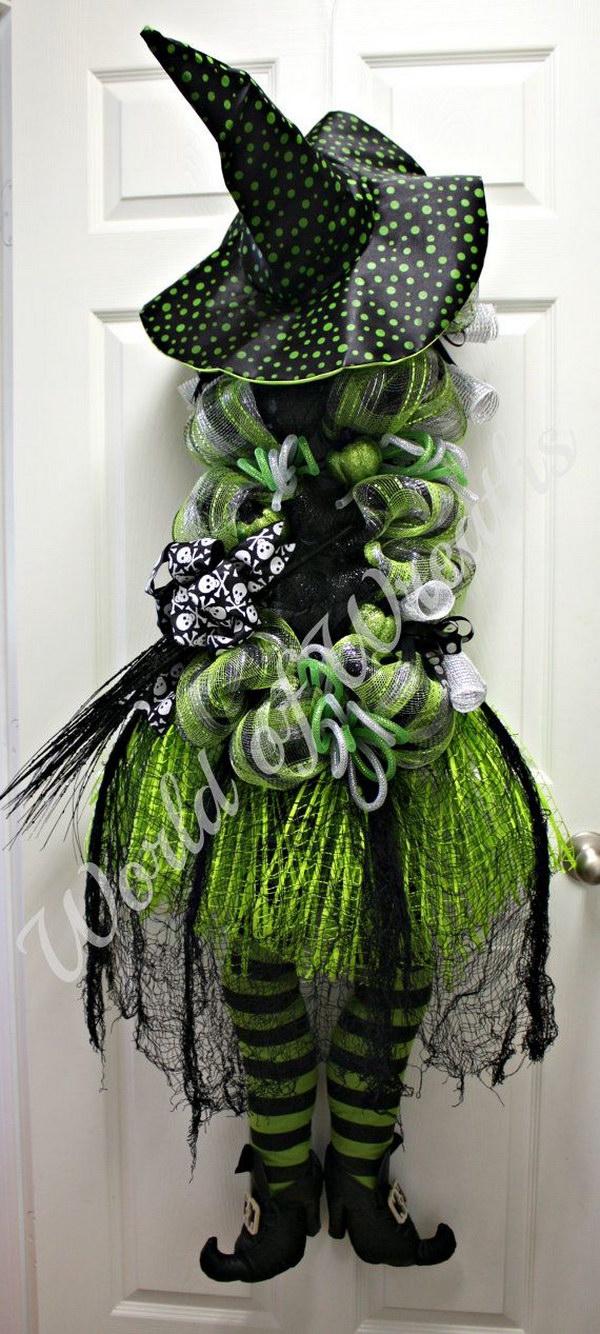 Fun and Creative DIY Halloween Witch Wreath Ideas
