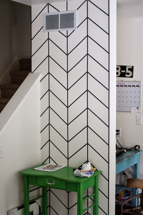 Wandgestaltung Fotos 20+ Diy Washi Tape Wall Art Ideas