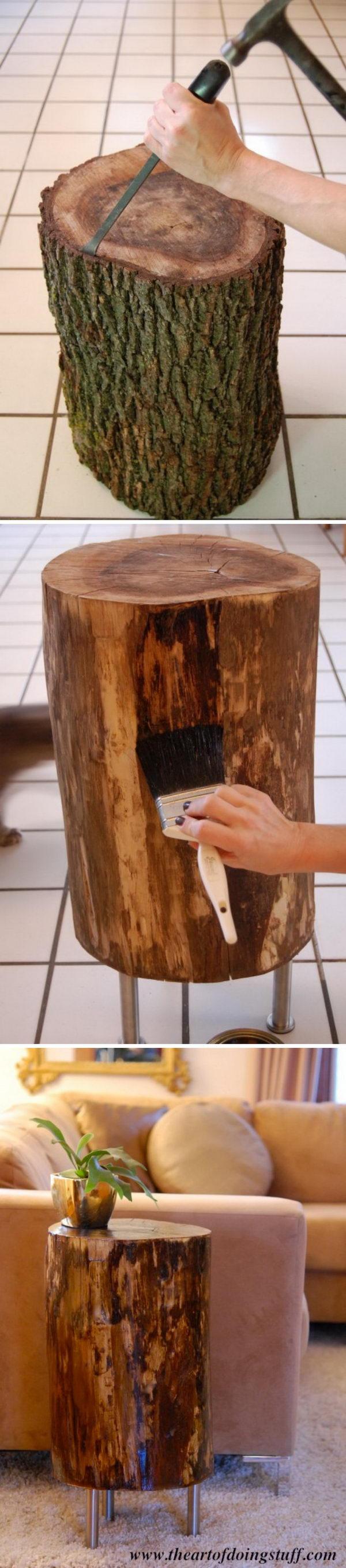 Large Of Tree Stump Table