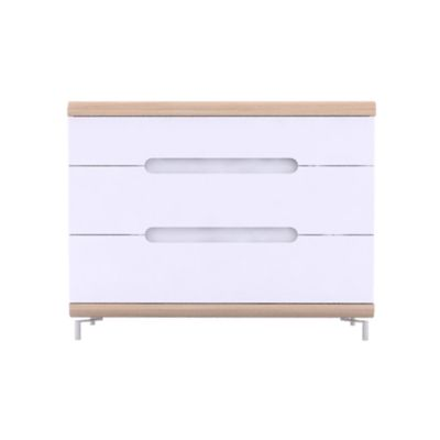 Commode Blanche Fly Commode 3 Tiroirs Chene Et Blanc Fly