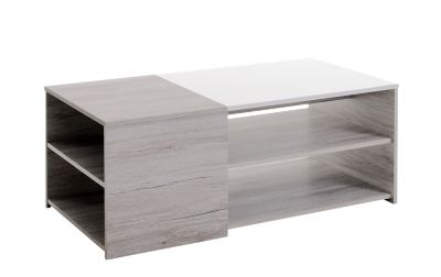Table Basse Blanche Fly Table Basse Chene Gris Blanc Fly