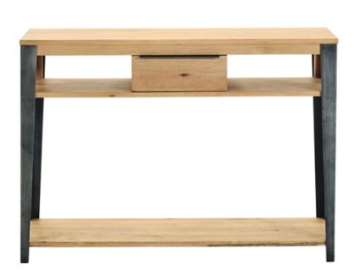 Table Manhattan Fly Console 1t Gris Chene Oak Fly