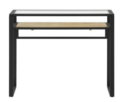 Console Meuble Fly Table Console Verre Noir Miel Fly