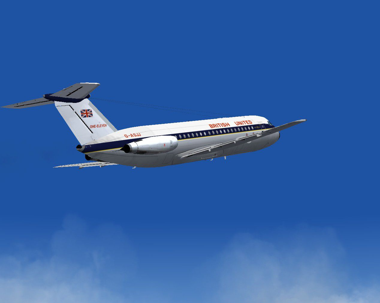 Bac S Simulation British United Bac One Eleven 201 For Fs2004