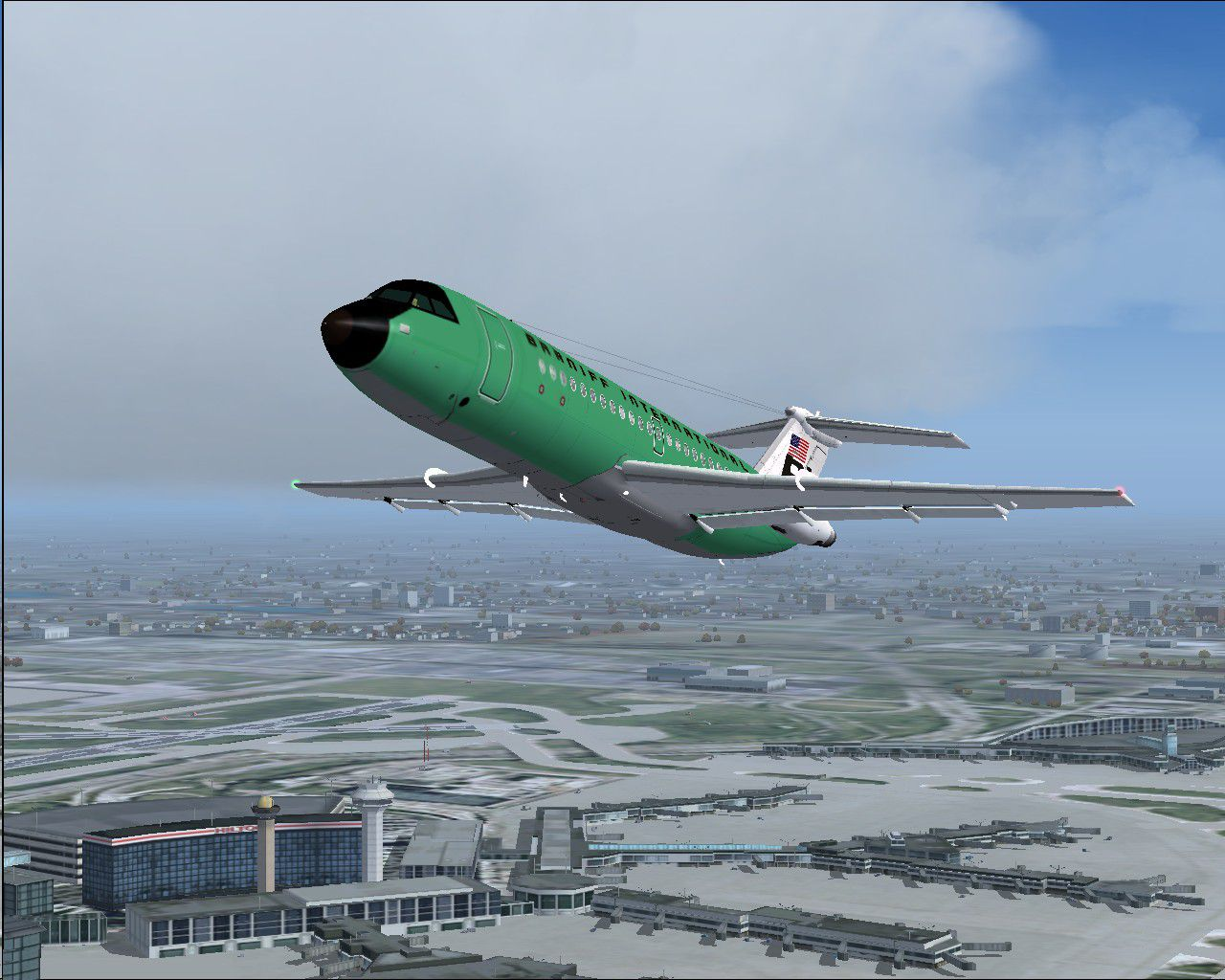 Bac S Simulation Braniff Bac One Eleven 200 N1545 For Fs2004