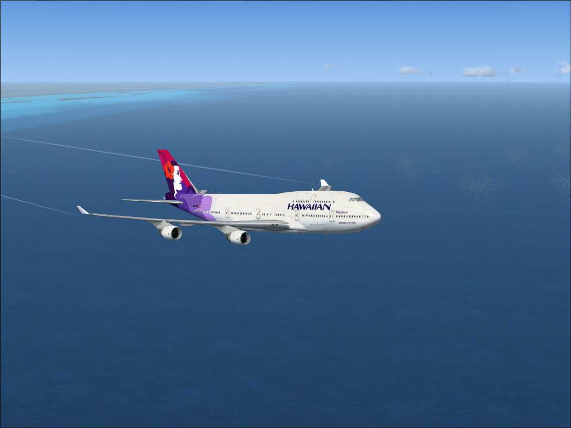 A380 Wallpaper Hd Hawaiian Airlines Boeing 747 400 For Fsx