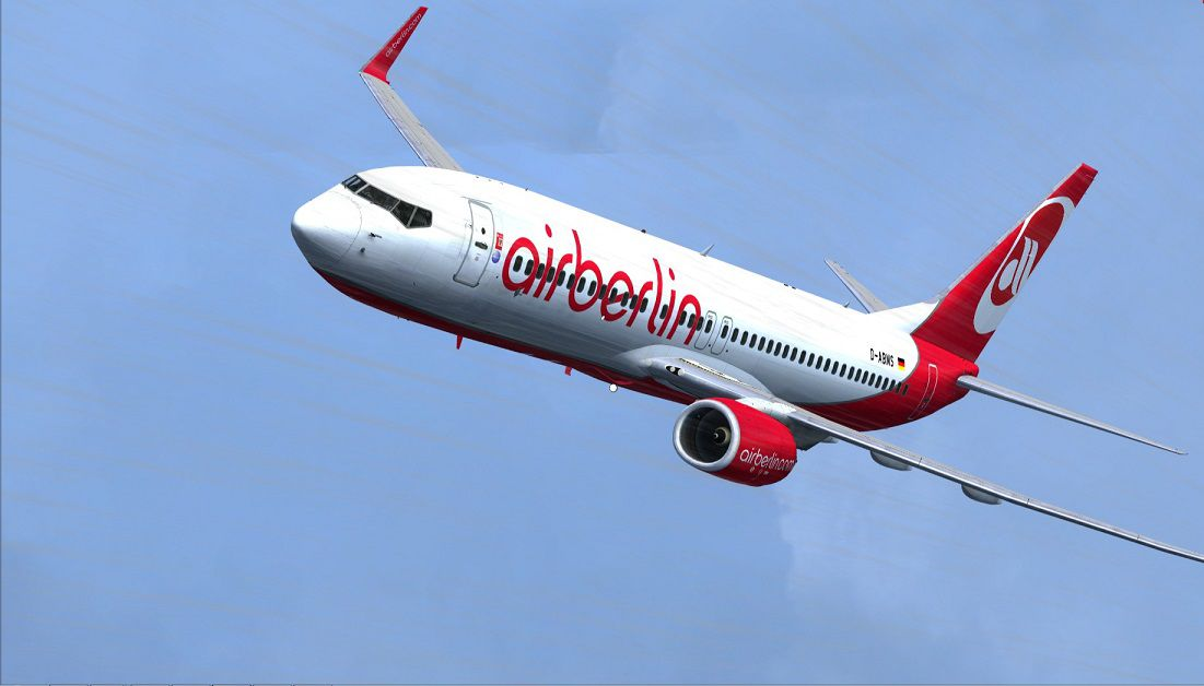 Air Berlin Flight Airberlin Boeing 737-800 Wl D-abms For Fsx