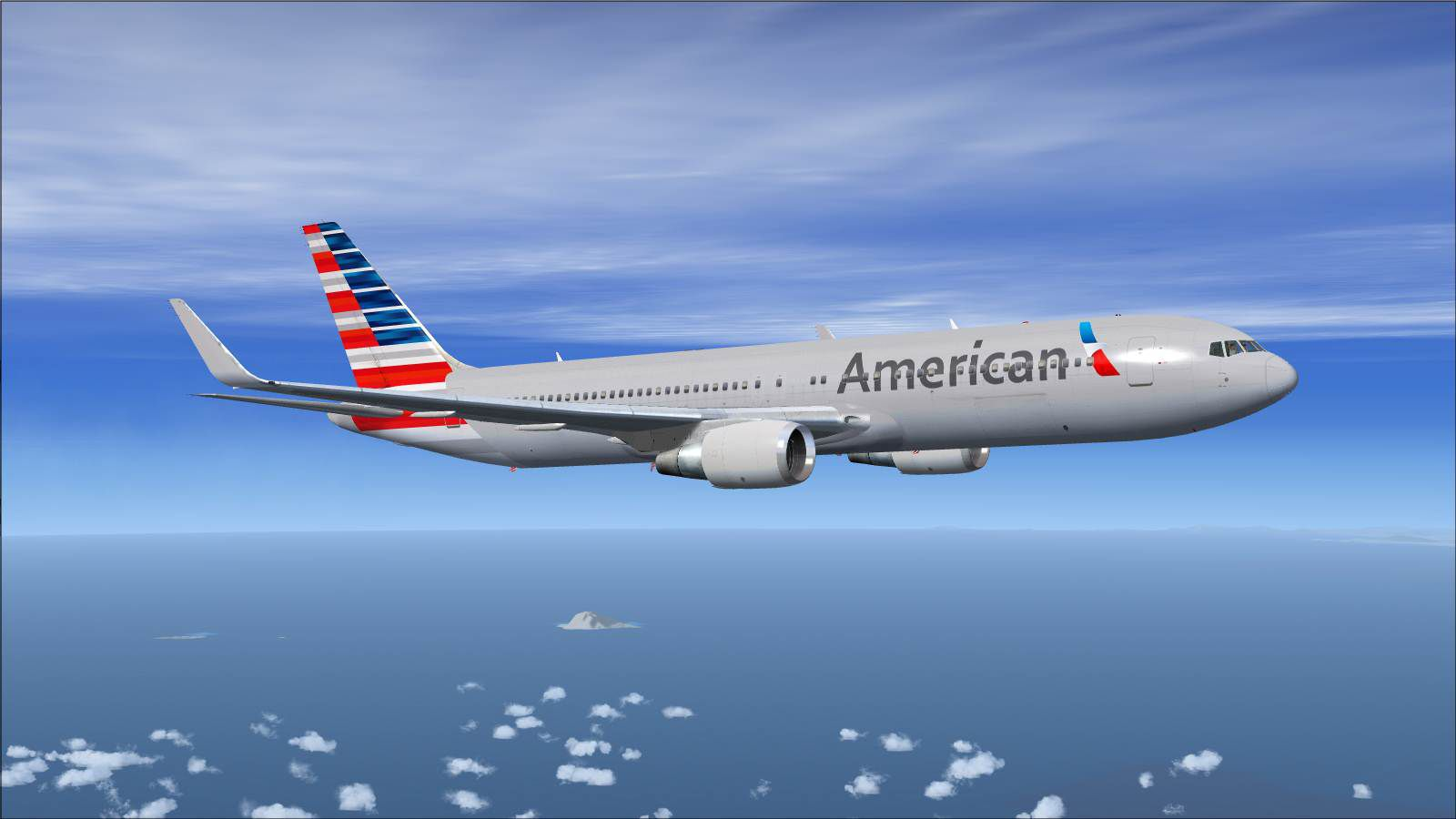Fsx Wallpaper Hd American Airlines Boeing 767 300wl For Fsx