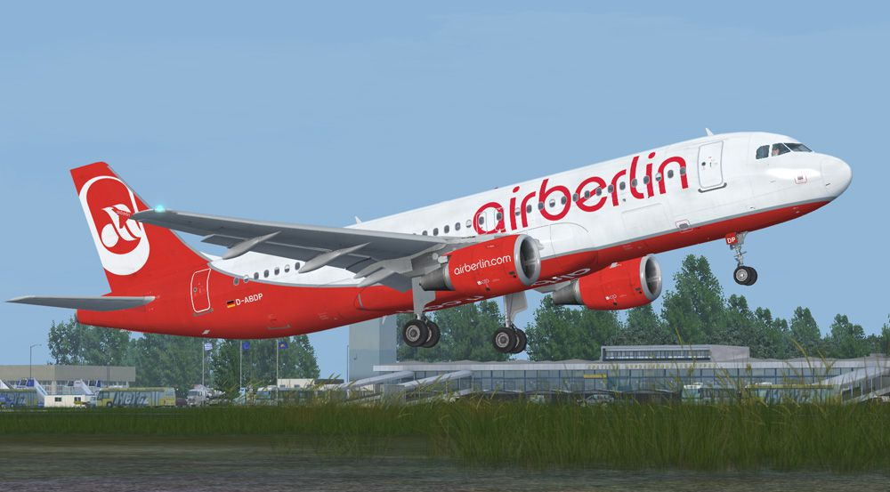 Air Berlin Flight Air Berlin Airbus A320-212 For Fsx