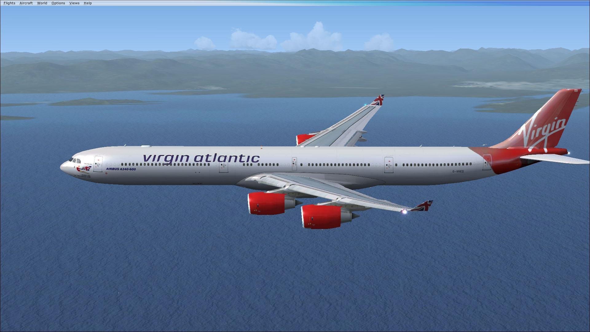 Fsx Wallpaper Hd Virgin Atlantic Airways Airbus A340 600 G Vred For Fsx