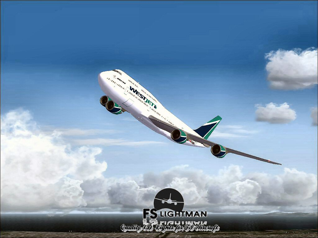 3d Virus Wallpaper Westjet Boeing 747 800 For Fsx