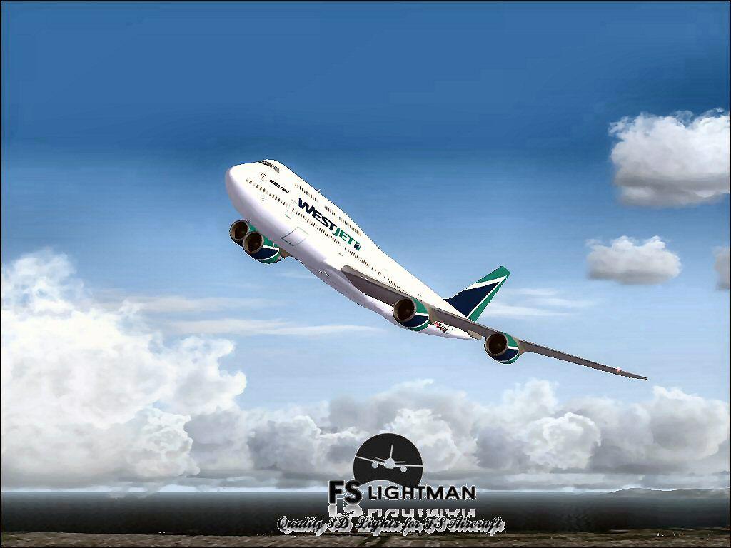 Windows Xp 3d Wallpaper Free Download Westjet Boeing 747 800 For Fsx