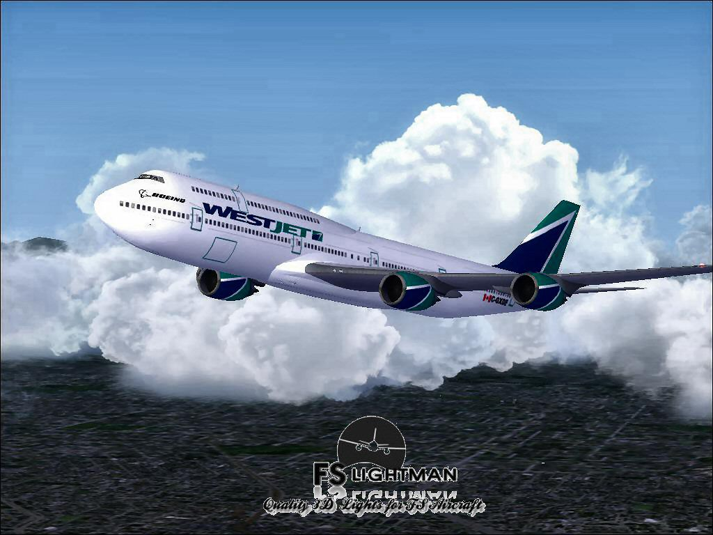 Www Westjet Airlines Westjet Boeing 747-800 For Fsx