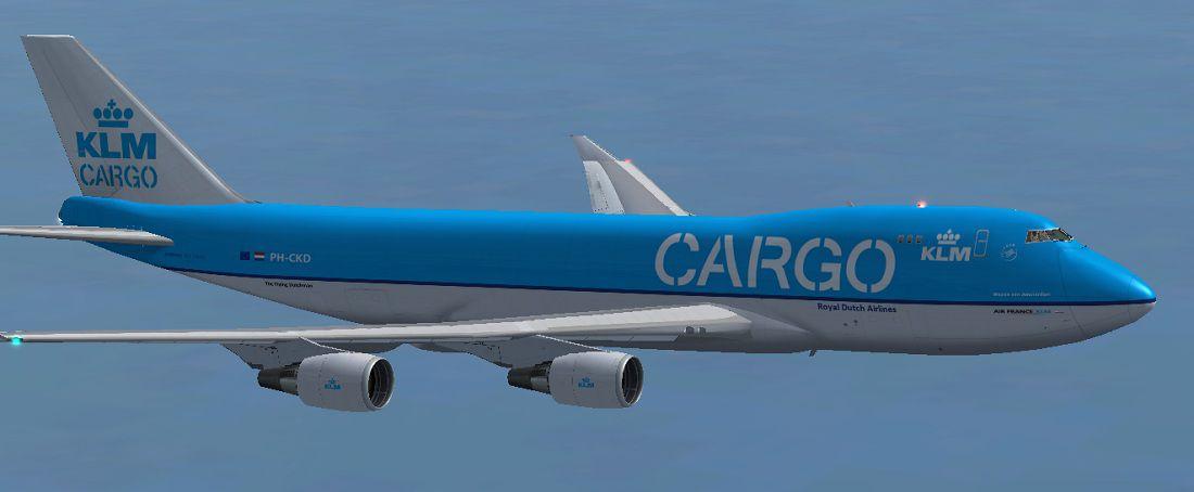 Fsx Wallpaper Hd Klm Cargo Royal Dutch Airlines Boeing 747 406erf For Fsx