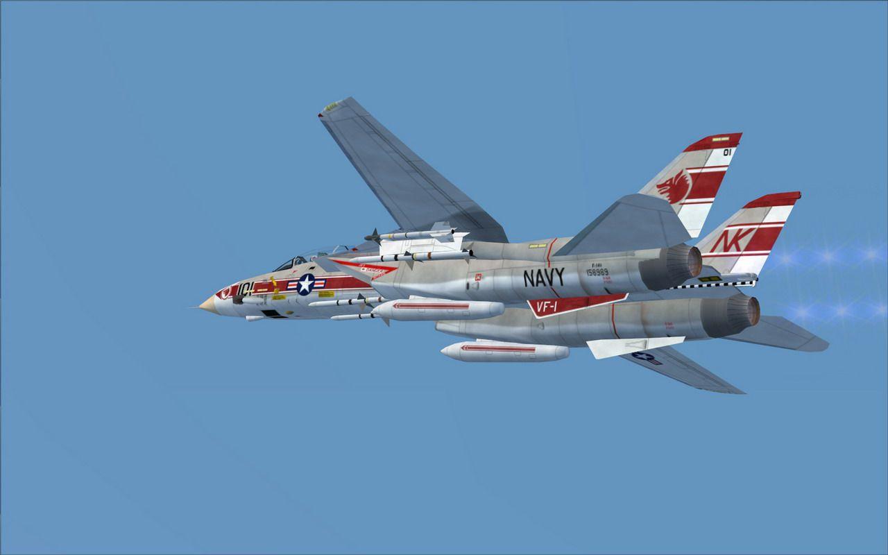 Fsx Wallpaper Hd Us Navy Grumman F 14a Vf 1 For Fsx