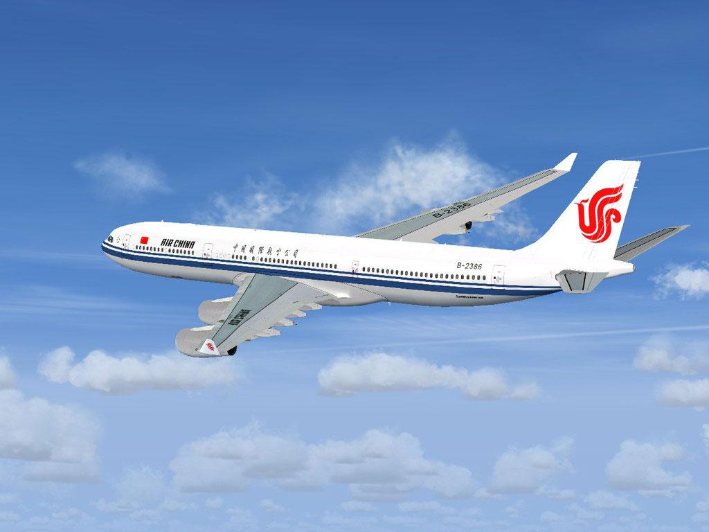 A380 Wallpaper Hd Air China Airbus A340 300 For Fsx