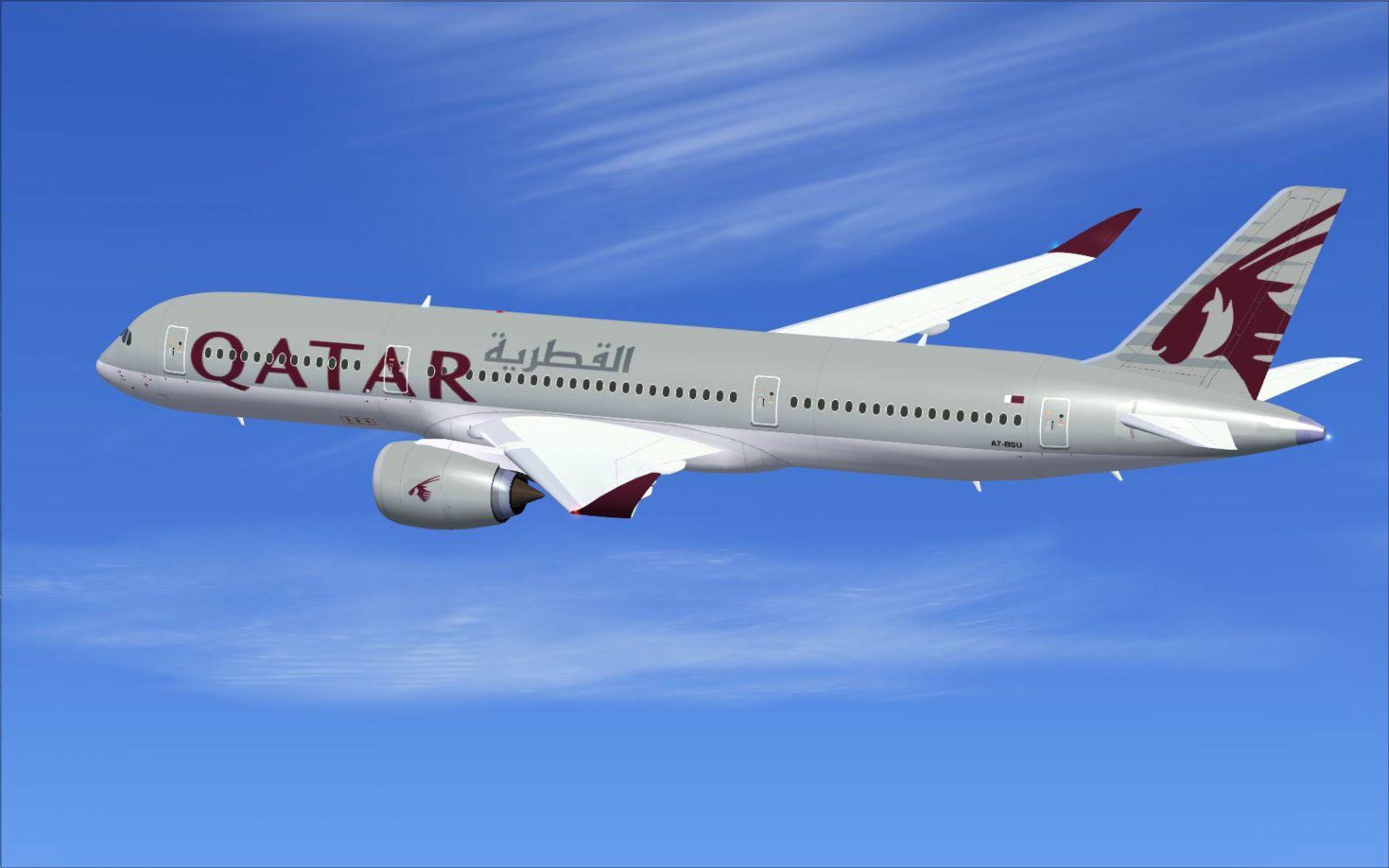 Microsoft Animated Wallpaper Qatar Airbus A350 800 Xwb V2 For Fsx