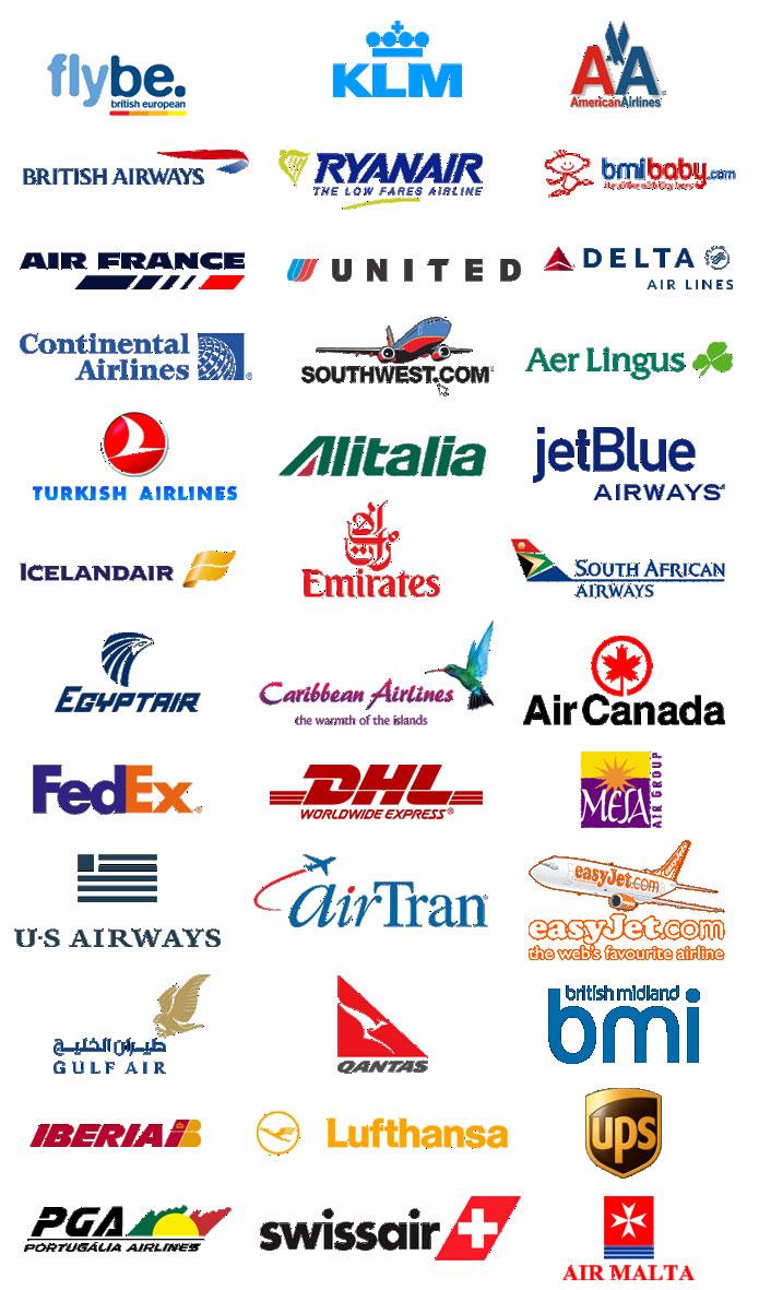 Major Airline Carrier Logo Major Airline Logos