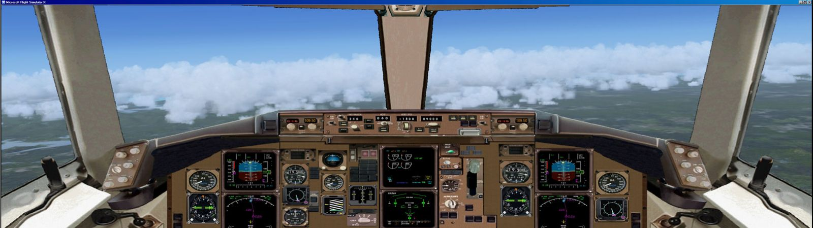 Airplane Full Hd Wallpaper Boeing 767 300 Panel For Dual Monitors For Fsx