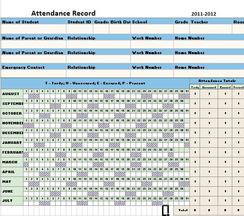 Free Attendance Sheet Template / Ms Excel Templates Flyer And - attendance sheet excel template