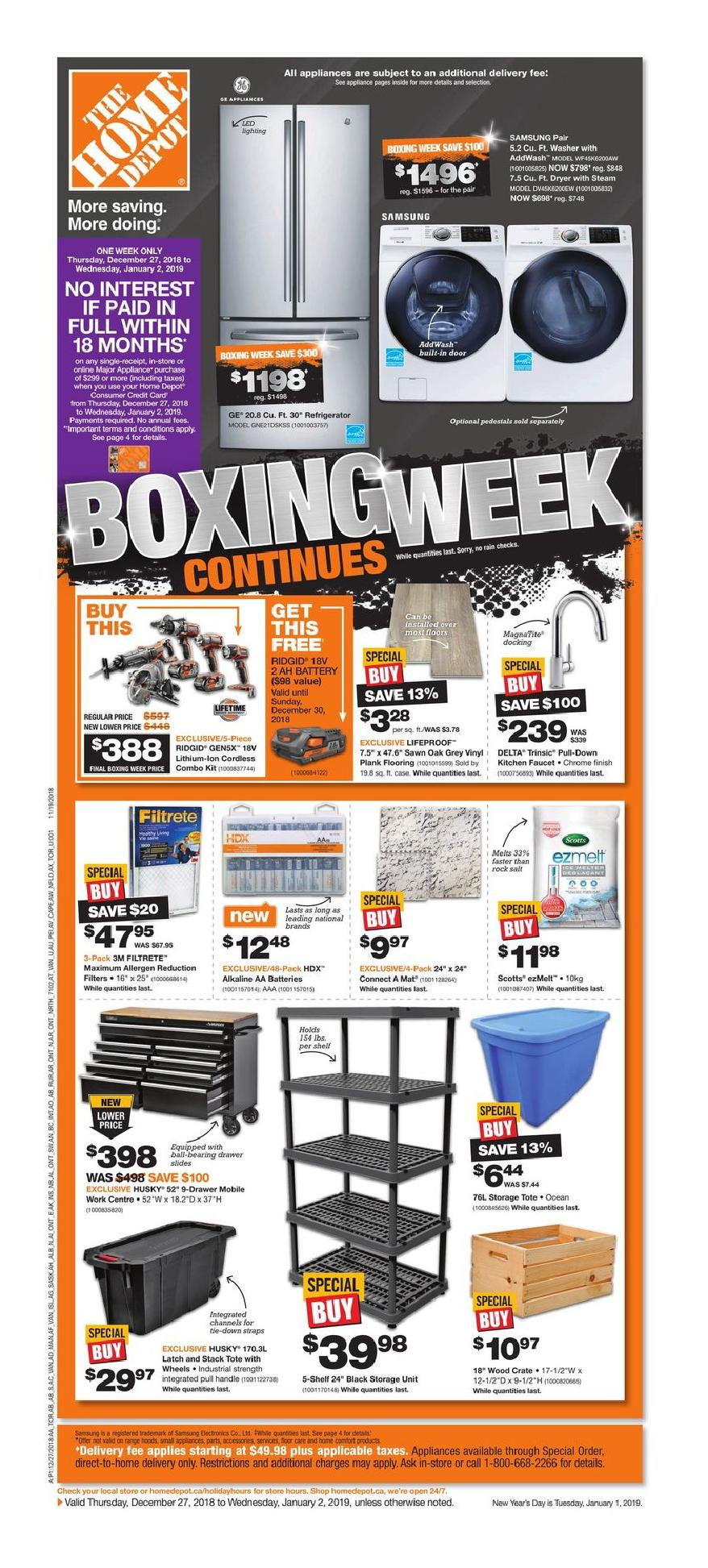 20' Ladder Home Depot Home Depot Boxing Day Sale Flyer Canada December 27 2018