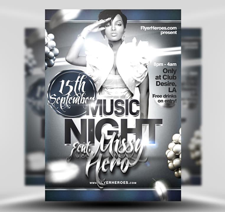 Free Music Night Flyer Template - FlyerHeroes