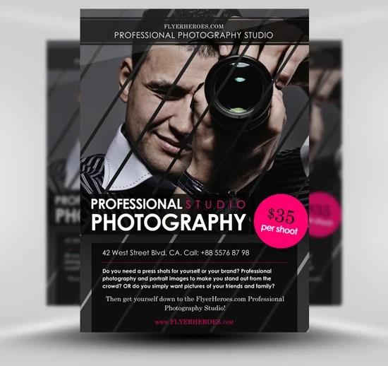 Free Photography Flyer Template - FlyerHeroes