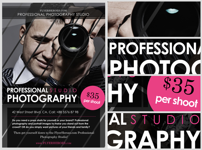 Free Photography Flyer Template - FlyerHeroes