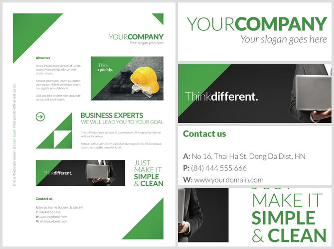 Free Clean Corporate A4 Flyer / Poster Template - FlyerHeroes