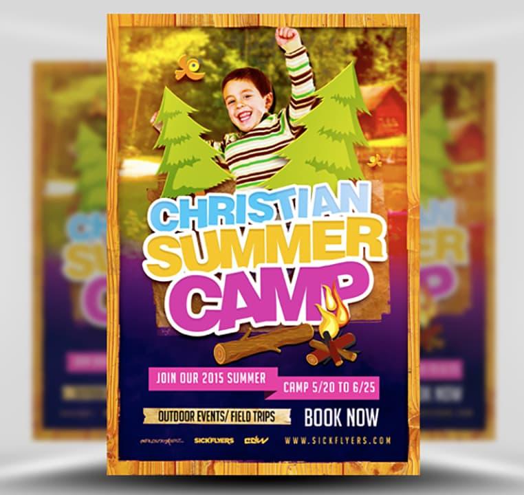 Christian Summer Camp Flyer Template - FlyerHeroes