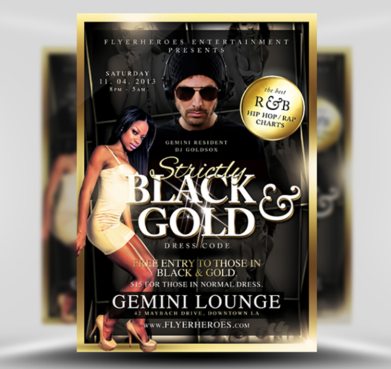 Black  Gold Flyer Template - FlyerHeroes
