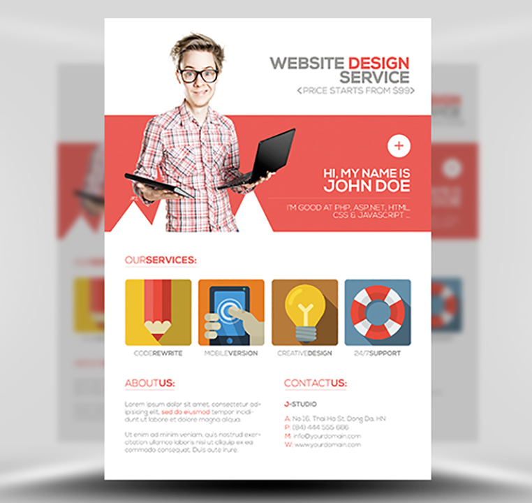 web design flyer - Canasbergdorfbib