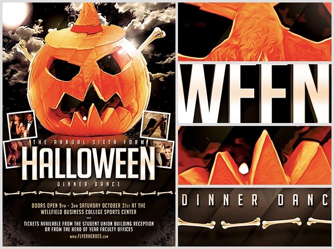 Halloween Party Flyer Template 815 - The Pumpkin 2 - FlyerHeroes