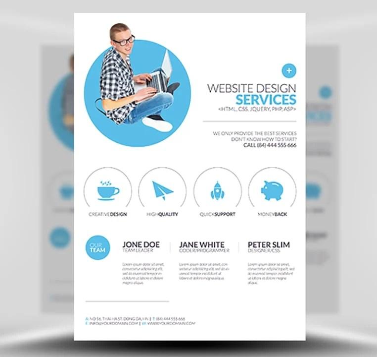 Minimal Web Design Flyer Template - FlyerHeroes