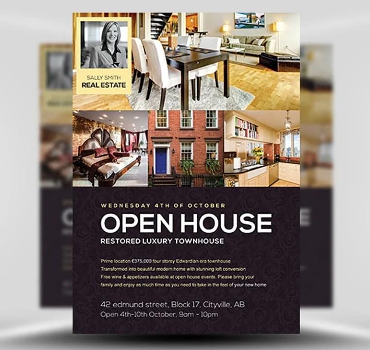 Open House Flyer Template - FlyerHeroes