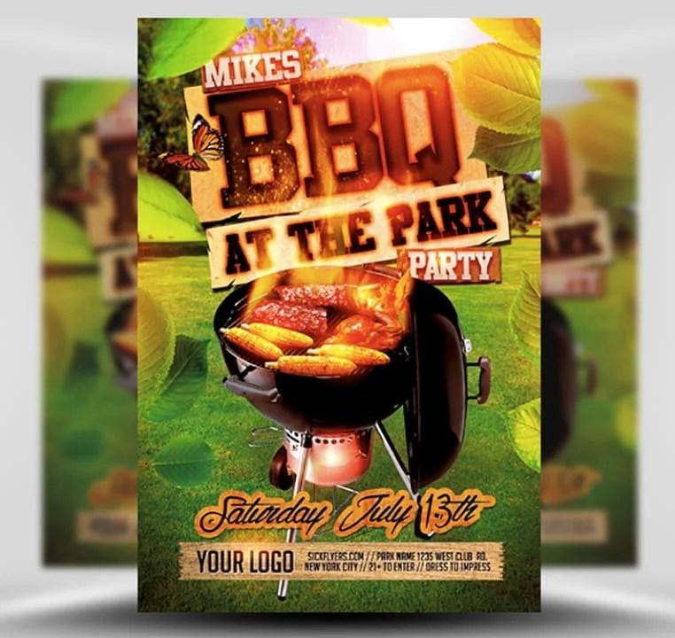 Summer BBQ Flyer Template