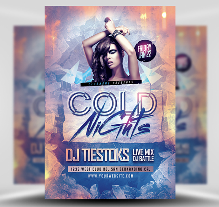Cold Nights Winter Party Flyer Template - FlyerHeroes