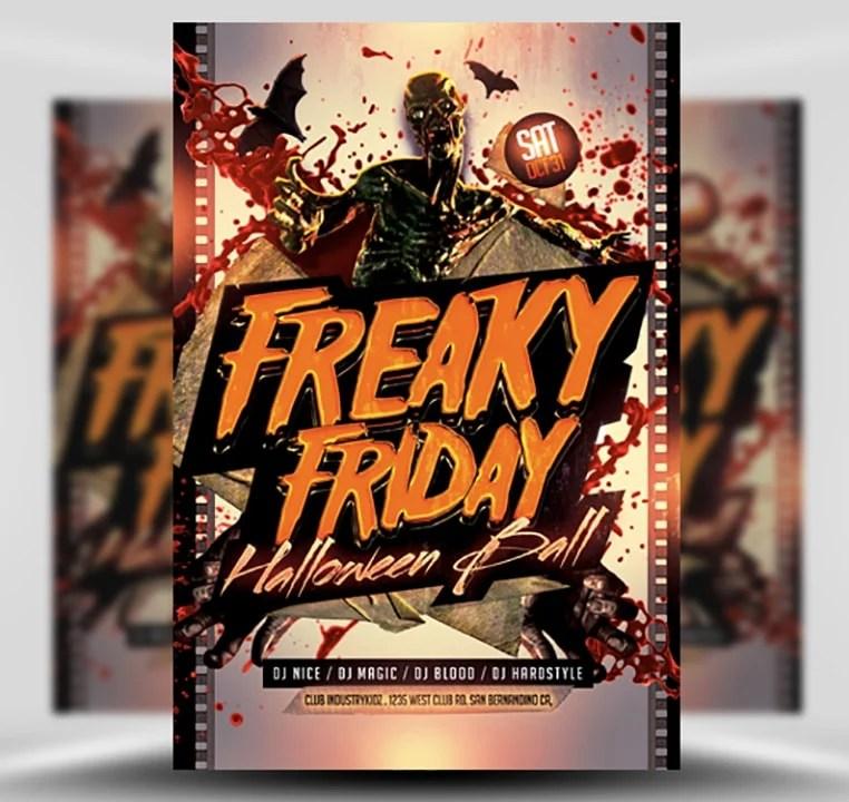 Freaky Friday Halloween Flyer Template - FlyerHeroes