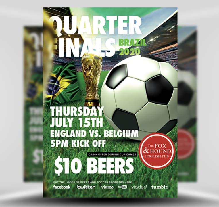 Soccer Flyer Template - FlyerHeroes