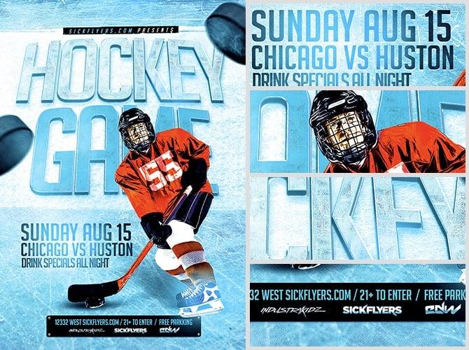 Ice Hockey Flyer Template - FlyerHeroes