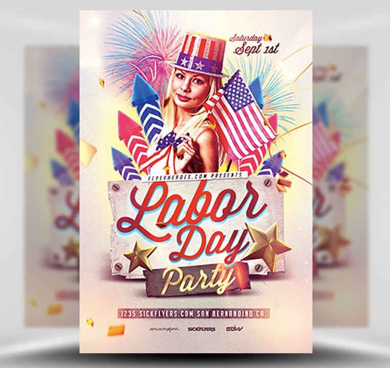 Labor Day Flyer Template - FlyerHeroes