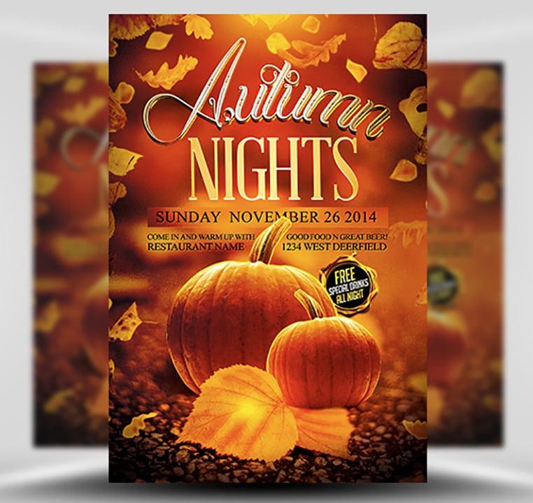 Autumn Nights Flyer Template - FlyerHeroes