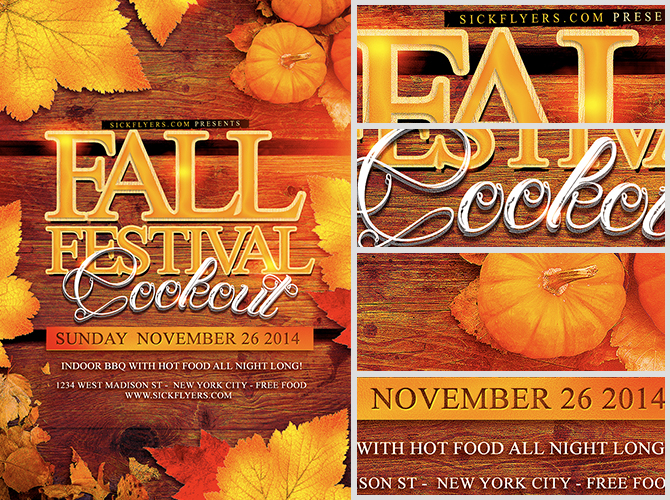 Fall Festival Flyer Template - FlyerHeroes