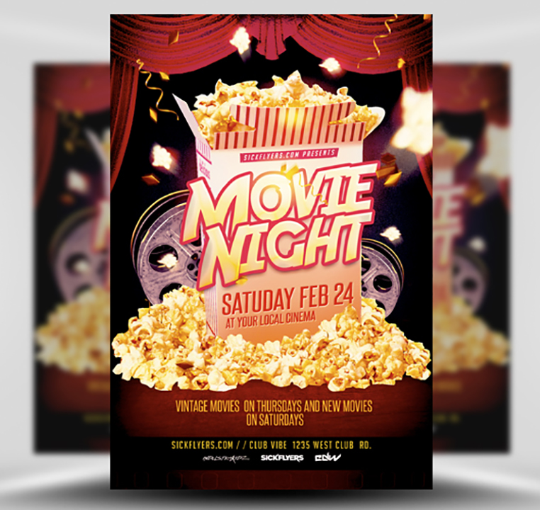 Movie Night Flyer Template - FlyerHeroes