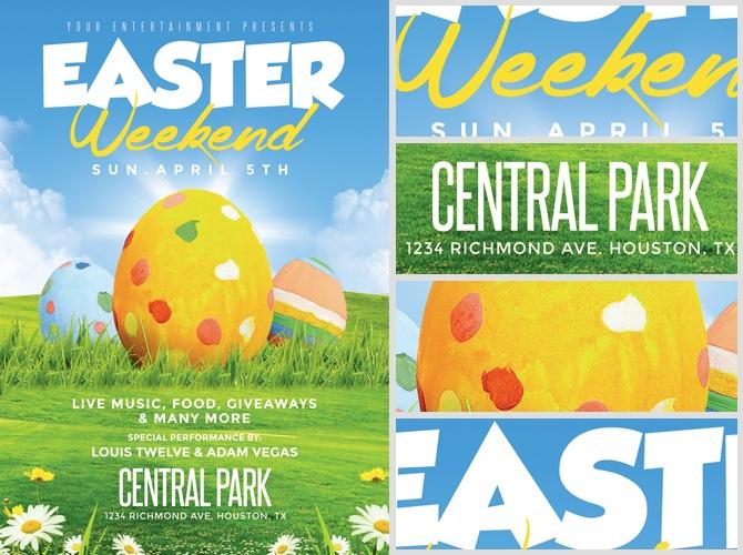 Easter Weekend Flyer Template 2 - FlyerHeroes