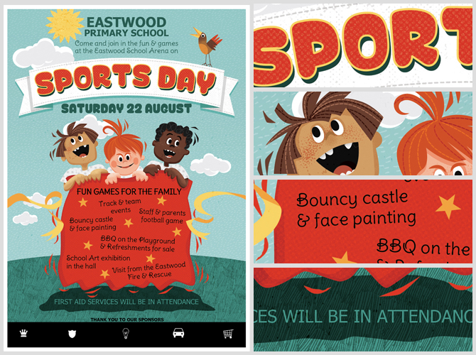Kid\u0027s Sports Day Flyer Template - FlyerHeroes