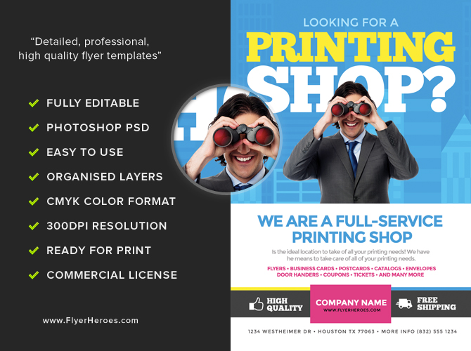 Printing Services Flyer Template - FlyerHeroes
