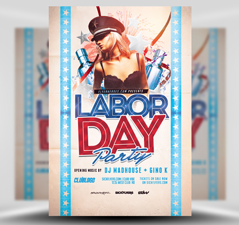 Labor Day Party Flyer Template 3 - FlyerHeroes