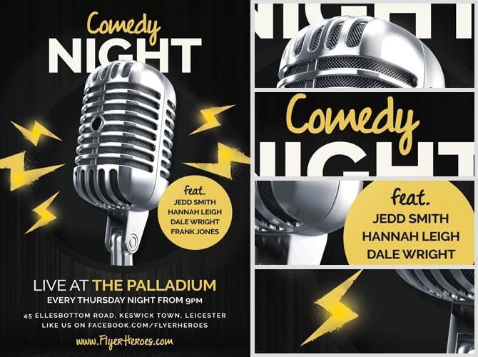 Open Mic / Comedy Night Flyer Template - FlyerHeroes