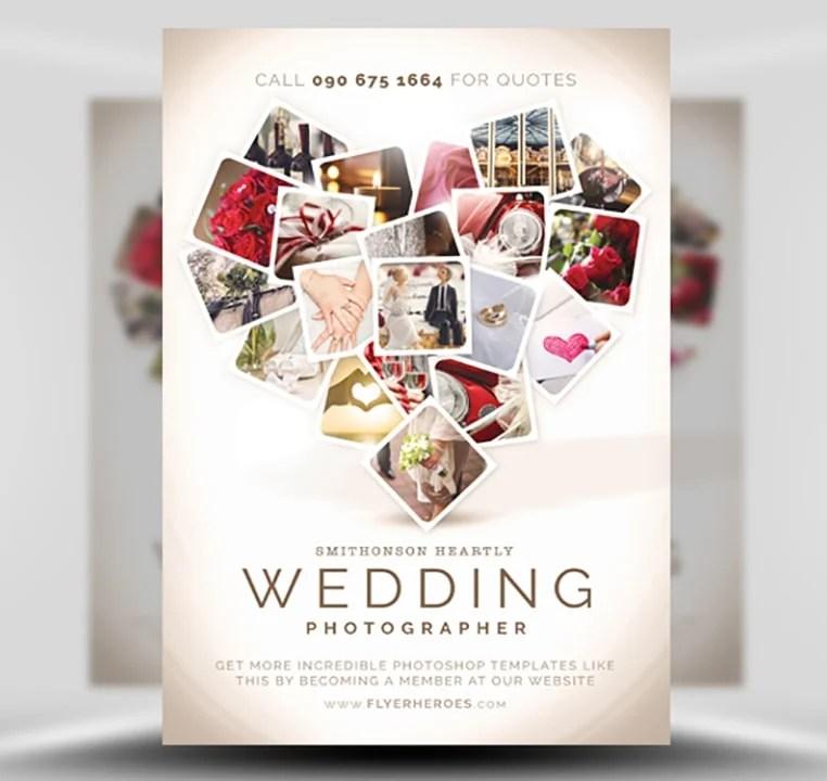 Wedding Photographer Flyer Template - FlyerHeroes